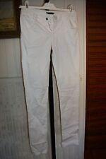 Pantalon coton blanc stretch slim fit IKKS taille basse W22 32/34FR ET57