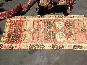 Anthropologie Moroccan Antique Wool Carpet Berber 13' X 5' Taznakht Tribe Runner