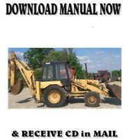 Ford New Holland 555D 575D 655D 675D backhoe loader repair service manual on CD