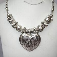 Retro Love Heart Unique Style Vintage Style Silver Necklace Jewellery