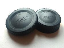 Nikon SLR DSLR F-mount Camera Body and Rear Lens Cap caps SET