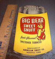 vintage Big Bear Sweet Snuff Tobacco memo booklet, about 12 pages, advertising