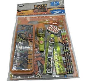 New Disney Store 11 Piece School Supply Kit Star Wars Rebels