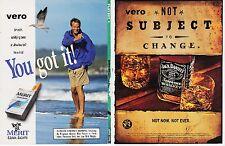 MERIT 1998 magazine ad cigarettes print clipping JACK DANIELS Whiskey alcohol