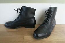 Snap! Vtg 80's Black Leather Combat Monkey Boots Military Womens Small 7 Narrow