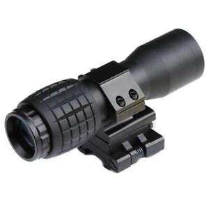 3x Magnifier Rifle Scope with Quick Flip to Side Mount for Picatinny & Weaver