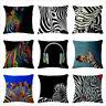 Animal Zebra Print Throw Pillow Cover Waist Cushion Cover Pillowcase Home Decor