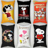 Popular Dog Cute Snoopy Peach Skin Home Pillowcase Home Decor Sofa Cushion Cover