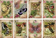 Butterfly Fairies Glossy Finish Card Toppers - Crafts Embellishment