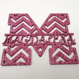 Monogram Letters Personalised  Craft Color Acrylic MDF Fonts Glitter Painted