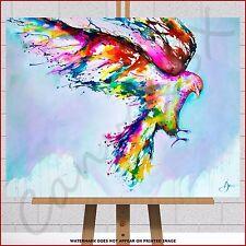Abstract Eagle Framed Canvas Picture Print WaterColour Paint Splash Marc Allante