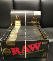 Raw Black And Brown Rolling Papers King Size Slim  With Tips