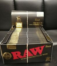 More details for raw black with tips black and brown connoisseur papers king size slim with roach