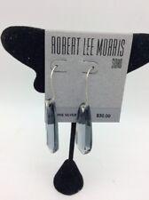 $30 ROBERT LEE MORRIS  LIGHT BLACK  STONE DROP EARRINGS ML4