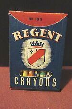 Vintage Box of Regent Crayons 1947 No 108  NOS