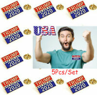 5X Donald TRUMP 2020 Election President Badge Button Pin Campaign Brooch PIN