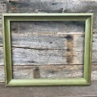 """Vintage Green Wood Picture Frame for ~ 15-1/2""""x19-1/4"""""""