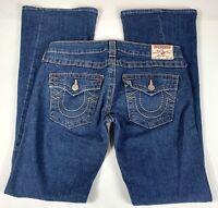 True Religion Joey Jeans Twisted Seam Flare Women's Size 29 Used #K