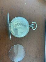 Antique Remontoir 15 Rubis Spiral Breguet 800 Silver Pocket Watch