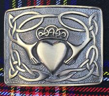 Men's Irish Claddagh Kilt belt buckle Antique Finish/Celtic Ecossais Belt des boucles