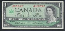 1967 CANADA 1 DOLLAR BANK NOTE REPLACEMENT BEATTIE / RASMINSKY