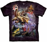 Dragon Flight Clan Legendary Magical The Mountain Fantasy Cotton T-Shirt S-3X