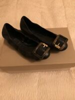 NEW Women's Burberry Black Leather Burberry Shoes US Size 5