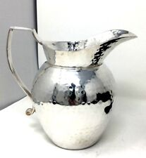 Hammered Silver Plate Pitcher Made in India