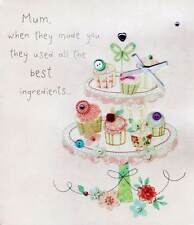 Best Mum Recipe Mother's Day Button Box Greeting Card Embellished Cards