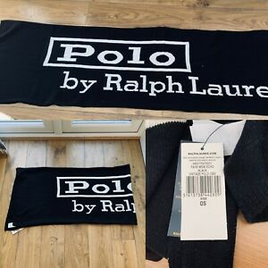 Polo Ralph Lauren Unisex Scarf Long 6 FT BNWT £85 One Size Knitted Vintage Style