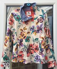 B4 Floral Sweat Top  Size 8 TU Fleece Lining New No Tags