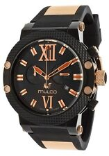 Brand New Mulco Nuit Two Tone Chronograph Stainless Steel Watch : SALE