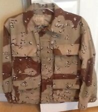 Men's Army Jacket Military Brown Print Size XX Small