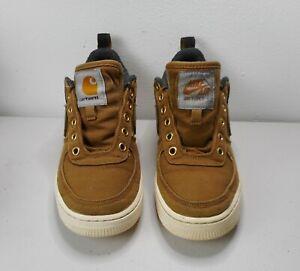 NIKE Air Force 1 CARHARTT WIP (GS) Youth Sneakers Ale Brown AV3524-200 US 6Y