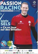 Programme Heft Program Racing Club Strasbourg RCS FC Nantes neuf 1.9.18