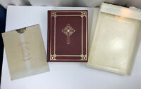 Holy Bible Catholic Action Edition, 1960, Leather Bound W/Lighted Display Case