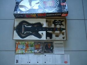pack guitare +2 jeux Guitar hero warriors of rock band PS3 Playstation 3 complet