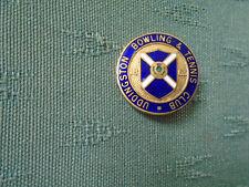VINTAGE UDDINGSTON BOWLING & TENNIS CLUB LANARK SCOTLAND - ENAMEL PIN BADGE TOYE