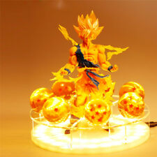 RARE Dragon Ball Z Super Saiya Goku Crystal Balls Power Up Led Light PVC Figure