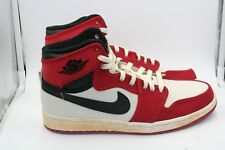 Air Jordan Retro 1 KO HI Size 9.5 Red Toe Chicago Bulls White Black Red Canvas