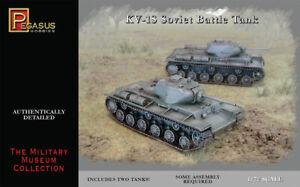 Pegasus 7667 KV-1S Soviet Battle Tank Set of Two 1/72 Scale Plastic Model Kits