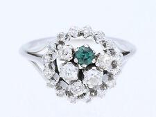 vintage Ring 0,80 Karat Diamanten Turmalin 585 Gold 14 Karat