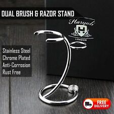 2 IN ONE SHAVING BRUSH & RAZOR STAND MADE WITH STAINLESS STEEL FOR ALL.FOR MEN'S