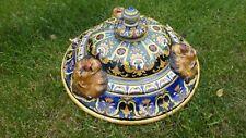 Faience Nevers XIXème.Rare Suspension Plafonnier lustre .Ceiling cauldron