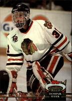 1992-93 Stadium Club Chicago Blackhawks Hockey Card #107 Dominik Hasek
