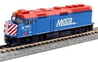 Kato 176-9102 N Scale Locomotive EMD F40PH Chicago Metra #160