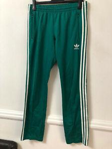 Adidas Green Joggers Size Medium Mens Long Sleeve (M855) Logo Activewear Bottoms
