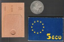 monedas españolas plata 1989 5 Ecus emperador Carlos I