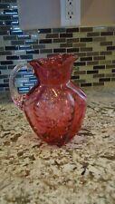 Fenton Cranberry Glass Pitcher