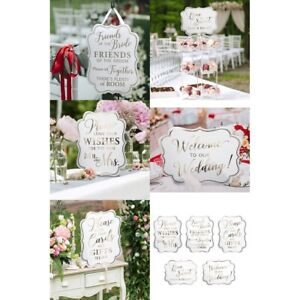 Welcome Wedding Signs x 5 Love Is Sweet Seating Ceremony Reception Decorations